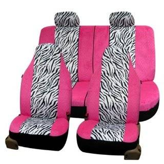 FH FB121114 Zebra Prints Car Seat Covers, Airbag ready and Split Bench