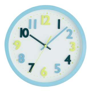 Wall Clock Large Pink or Blue Funky Style Kids Room