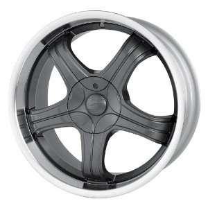 222) (Hyper Black w/ Machined Lip) Wheels/Rims 5x112/120 (222 8809HB