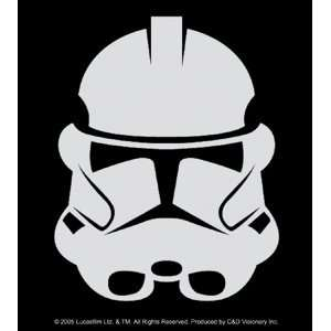 Star Wars   Clone Trooper   Black & White Rectangle Sticker / Decal