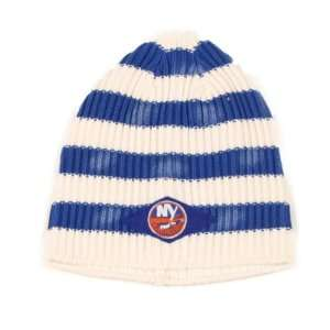 New York Islanders Faded Striped Knit Beanie (Uncuffed