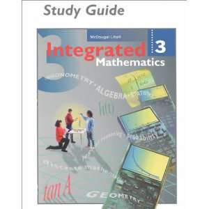 Integrated Mathematics, Grade 9 12 Book 3 Study Guide