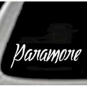 PARAMORE   5 White Vinyl STICKER / DECAL for CARS,trucks