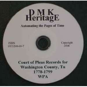 Washington County Tennessee Court of Pleas: WPA: Books