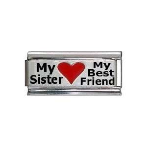 My Sister My Best Friend Superlink Red Heart Laser Italian
