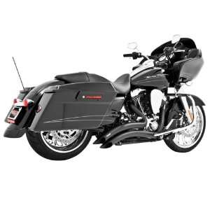 Sharp Curve Radius Black Exhaust for 1986 2011 Harley Davidson Softail