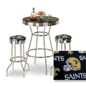 Finish New Orleans Saints NFL Fabric Seat Barstools