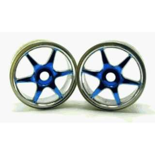 Redcat Racing 81036PB Chrome Anodized Blue 6 Spoke Wheels   For Redcat