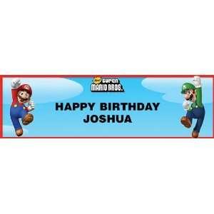 Super Mario Bros. Personalized Birthday Banner Standard 18