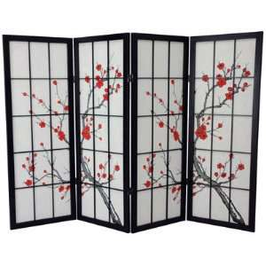 Unique Shorter Height Size Fireplace Screen   4ft. Cherry Blossom Art