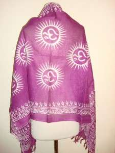 SIR ALISTAIR RAI Purple White Prayer Scarf Wrap New