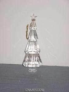 Crystal Crystalline Christmas Tree Ornament 5 NEW
