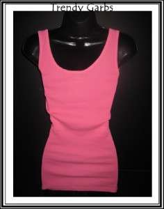 New Roxy New Age neon pink ribbed tank top M