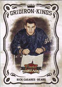RICK CASARES 2010 PANINI THREADS GRIDIRON KINGS #11