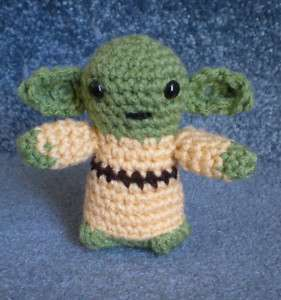 Amigurumi Hand Crocheted Star Wars Yoda 4 Doll *NEW*