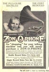 1909 c ad universal talking machine co zon o phone