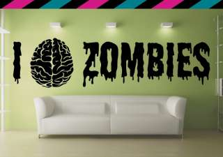 Zombie Zombies wall decal heart love