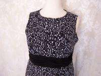 Size 20 Coldwater black & white MAXI dress lined bodice New