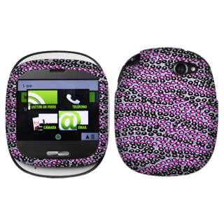 For Sharp Kin One Verizon Wireless Purple Black Zebra Crystal Full