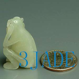 Natural Hetian Nephrite Jade Carving Monkey Figurine