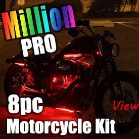 6pc MILLION COLOR SMD LED MOTORCYCLE FENDER BODY LIGHT