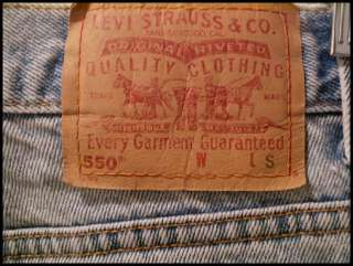 vtg LEVIS 550 RELAXED FIT TAPERED LEG JEANS usa made 13