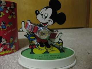 Disney Mickey Mouse Character Watch Display Box RARE