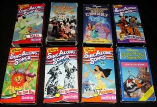 DISNEY PRINCESS SING ALONG SONGS lot VHS video child Lion Pocahontas