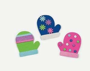 Magnet Craft Kit with Glitter Full set. Winter Fun for Kids