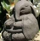 ZEN BUDDHA HORSE Sculpture Stone Yoga Garden Statue o