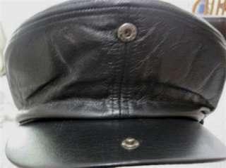 Harley Davidson Medium 100th Anniversary Edition Leather Cap Hat Beret