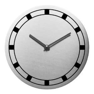 Steel Design Wallclock WALLI Ø 8 in No.3425