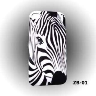 Choice Safari Zebra / Leopard Animal Skin Print back cover case iPhone