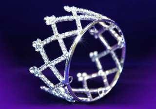 Bridal Flower Girl Crystal Rhinestone Mini Crown T1039