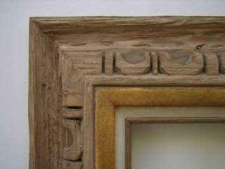 Wide Carved Rustic Western Picture Frame Up To 16x20