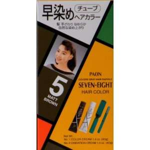 Paon Seven Eight Permanent Hair Color Kit 5 Matt Brown Beauty