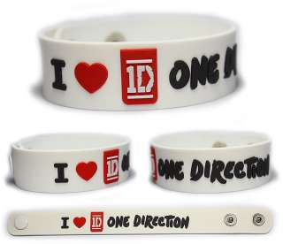 love ONE DIRECTION Rubber Bracelet Wristband 1D