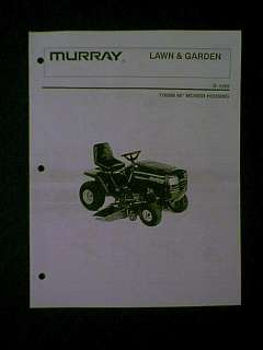 MURRAY RIDING MOWER 46 DECK S 1255 776008 PARTS MANUAL