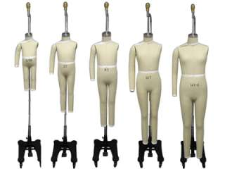 Professional Children Dress Form Mannequin Size 12M