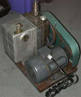 Welch DUO SEAL Vacuum Pump 1376, Two Stage Belt Drive w/ Crompton