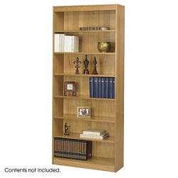Edge 7 Shelves Wood Veneer Bookcase 1506, Bookcase Shelves,