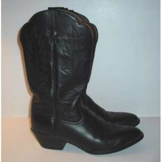 Nice Mens Black Leather Ariat Cowboy Boots Size 9B