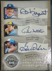 ROBIN YOUNT PAUL MOLITOR GORMAN THOMAS 2004 UD AUTO /75