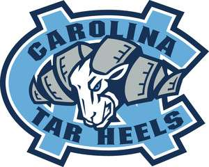 North Carolina Tar Heels Vinyl Die cut Decal / Sticker ** 3 Sizes