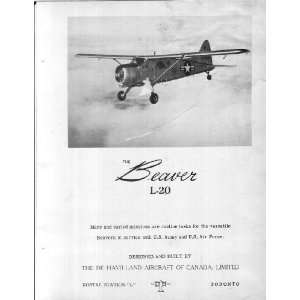 20 Beaver Aircraft Flight Manual: De Havilland Canada: Books
