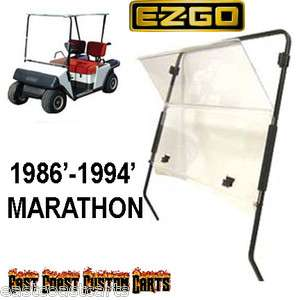 538f99ea043 ... EZGO Marathon 1986 1994 Golf Cart Fold Down Windshield CLEAR ...