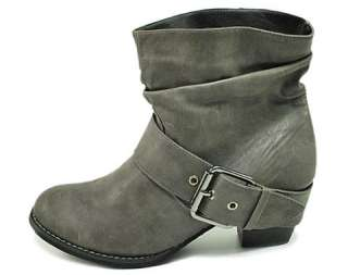 GROOVE Short Western Cowboy Boots Women Size Fashion Gray BEAU GY