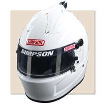 Simpson Air Inforcer Shark Auto Racing Helmet SA2010 (Free Bag)