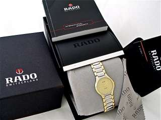 MENS RADO FLORENCE WATCH TWO TONE GOLD DIAL NEW IN A BOX