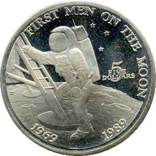 elf Marshall Islands $5 1989 Astronaut Moon Landing